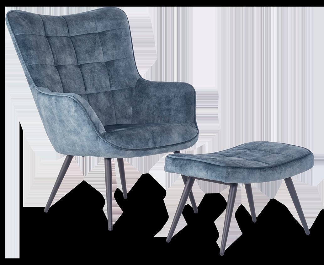 Moderne stol i velour